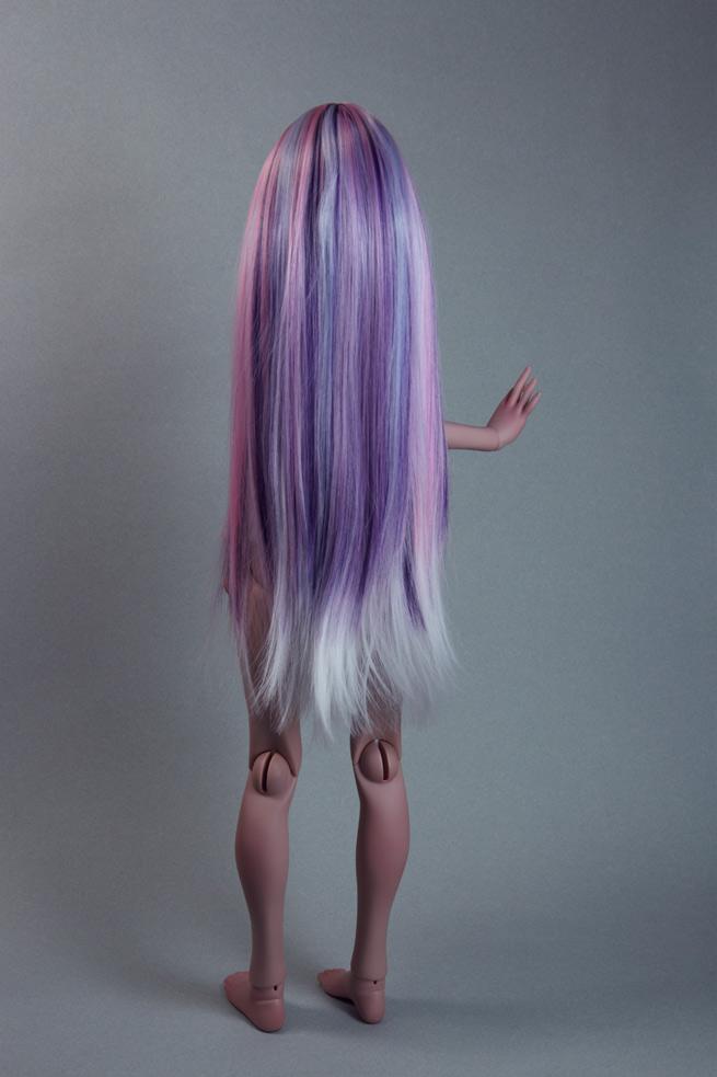Ninon Plum Ooak Medium Wig Highlighted Light Blue Pink And Purple Hair Np6